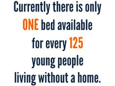 There is only one bed available for every 125 young people experiencing homelessness. The Campaign for Youth Shelter is fighting to change that. Lgbt Youth, Youth Leader, Homeless Facts, Youth Shelter, Stonewall Uprising, Stop And Frisk, Foster Care System, Civil Rights Activists, Word Out