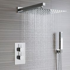 Bathroom Fixtures Shower Faucet Brushed Nickel Shower Panel Shower Column Wall Mounted Rain Waterfall Shower Set Tower Single Handle Mixer Faucet We Have Won Praise From Customers Shower Faucets