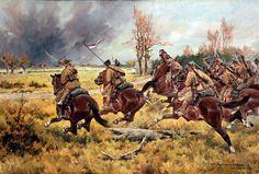 Pluton 10. pułku w szarży pod Brokiem - Edward Mesjasz