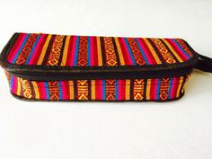Handwoven pencil case from Darjeeling, India. Pouch Bag, Pouches, Couture Embroidery, Darjeeling, Hand Weaving, Sunglasses Case, Handmade Items, My Etsy Shop, Pencil
