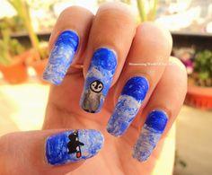 penguin nail art...Mesmerizing World Of Nail Art..