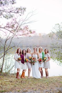bridesmaids dresses with boots!