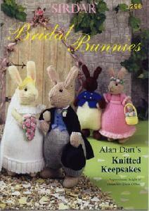 Sirdar Knitting Pattern for Bridal Bunnies - By Alan Dart Knitted Bunnies, Knitted Teddy Bear, Knitted Animals, Knitted Dolls, Crochet Toys, Teddy Bears, Knitting For Charity, Baby Knitting, Simply Knitting