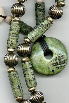 Polymer Clay Beads by Carol Blackburn~ Pinned by facebook.com/MysticsHallow Bath & Body. Custom orders welcome.