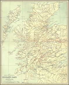 Ancient lands of the clans of Scotland - Look for the MacKinnons, they are Dwight's Grandfather's Family!
