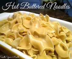 """Hot savory noodles cooked in broth and butter with an easy """"walk away"""" recipe."""