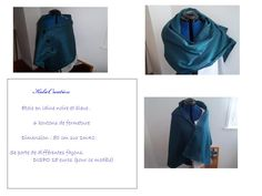 étole en laine noire et bleue 15 euros