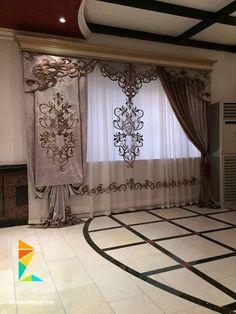 كتالوج ستائر صالونات وانتريهات من اشيك الستائر للريسبشن Classic Curtains, Elegant Curtains, Beautiful Curtains, Modern Curtains, Rustic Curtains, Colorful Curtains, Curtains And Draperies, Luxury Curtains, Home Curtains