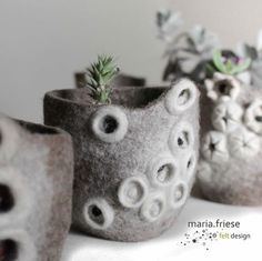 Felt flowerpots by Maria Friese