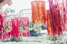This New Yarn Wedding Decor Trend Is Perfect for Fall and Winter via Brit + Co