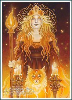 Elements Fire:  Tarot Queen of #Fire, by Ravynne Michele Phelan.