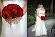 Red rose wedding bouqet