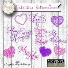 DIGITAL DOWNLOAD ... Valentine vectors in AI, EPS, GSD, & SVG formats @ My Vinyl Designer #myvinyldesigner #sparkaldesigns