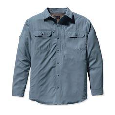 Patagonia Men's Long-Sleeved Sol Patrol® Shirt - 30-UPF Sun Protection | Blue Clay