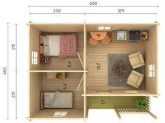 Mini House Plans, Simple House Plans, Vintage House Plans, Home Room Design, Small House Design, Home Design Plans, Studio Floor Plans, House Floor Plans, Diy Apartment Decor
