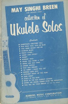 Free downloadable collection of Ukulele Solos