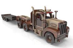 The Mack truck as the same chassis as the Peterbilt so the trailer can be interchange with each other. The flat bed trailer is going to be Long and Long in all with the cab. The Plan, How To Plan, Mack Trucks, Toy Trucks, Fisher, Electric Hand Drill, Wood Toys Plans, Wooden Truck, Oil Tanker