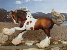 CM CUSTOM TRADITIONAL BREYER GYPSY VANNER PAINTED TO A SOOTY DAPPLED PALOMINO