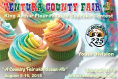 ★ King Arthur Flour Baking Contest Youth Competition is looking for your best and most delicious frosted & decorated cupcake..No cake mixes or prepared frostings allowed. Creativity is strongly encouraged so get baking with King Arthur Flour and you could be the blue ribbon winner! Deadline: Thurs, Aug 13, 2015 11am – 1pm  1st place: $50 Gift Certificate to Baker's Catalogue 2nd place: $25 Gift Certificate to Baker's Catalogue 3rd place: King Arthur Flour Cookie Companion Cookbook