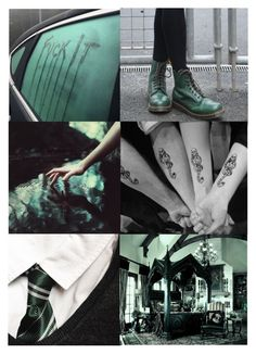 """""""Slytherin - Aesthetic"""" by artemisinn ❤ liked on Polyvore featuring art"""