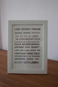 """Buchstaben & Schriftzüge - SCHRIFTZUG """"LEBEN"""" - ein Designerstück von kisikla bei DaWanda"""