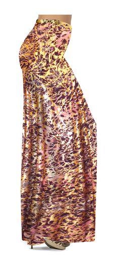 3e527e09c74 Customizable Salmon Red Ornate With Gold Metallic Slinky Print Plus Size    Supersize Palazzo Pants - Tapered Pants - Sizes Lg XL 1x 2x 3x 4x 5x 6x 7x  ...