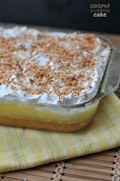 Coconut Pudding Poke Cake