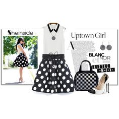 Sheinside Polka Dots Skirt by elena-indolfi on Polyvore featuring NLY Accessories