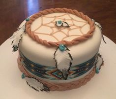 Custom Cakes made by Sugar Frenzy Wills Point, Tx. Dream Catcher Cake
