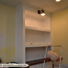 DIY built-in cabinets and bookcase