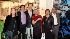 Bruno Albertino,Titti Garelli,Edmondo Bertaina,Anna Alberghina ed i loro amici Ivana e Luca al Macist Museum Biella mostra Arte africana.