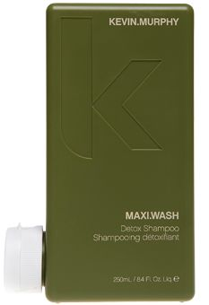 MAXI.WASH- detoxifying shampoo that contains AHA's (fruit acids) that breaks down fatty acids for a clean, clear scalp. The balancing essential oils penetrate the scalp to brighten hair and purify an oily or flaky scalp. Removes build-up of unwanted products and chemicals.