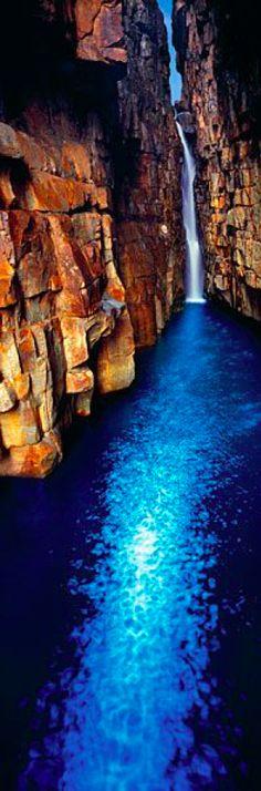 Sapphire pool in Kimberley, Western Australia photo: Ken Duncan