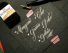 #handlettering #brushcalligraphy #lettering #brushlettering #calligraphy #whiteink #ecoline #weddingcalligraphy