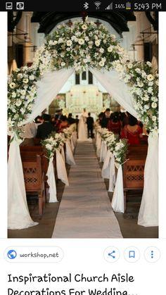 21 stunning church wedding aisle decoration ideas to steal wedding wedding church junglespirit Gallery