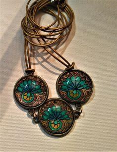 Halskette/necklace und Ohrclips