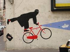 Bike your way out #streetart #smartart #antismart #urbacolor #bike #parisstreetart