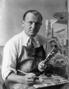 """Bieber Erich (Studio Niermann) George Grosz in His Atelier, Berlin 1928 """"It's an old ploy of the bourgeoisie. They keep a standing 'art' to defend their collapsing culture. Harlem Renaissance, Franz Marc, Famous Artists, Great Artists, George Grosz, New Objectivity, Gauguin, Australian Painters, Dibujo"""