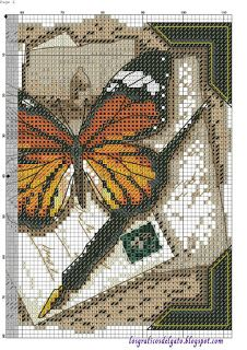 Butterfly Stitches, Butterfly Cross Stitch, Cross Stitch Bird, Cross Stitch Alphabet, Counted Cross Stitch Patterns, Cross Stitch Designs, Cross Stitching, Cross Stitch Embroidery, Cross Stitch Pictures