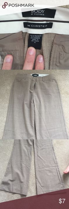 Body by Victoria The Chrstine fit size 6 Excellent condition , beige , smoke free home Victoria's Secret Pants Boot Cut & Flare
