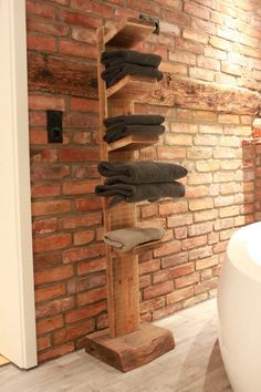 Handtuchhalter aus Massivholz