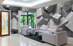 Modern wallpaper murals for living room 2019 Amazing wallpaper murals for living rooms in modern homes, The types of these wallpaper designs, how to use them and how to apply wallpaper for living room interior Classic Interior, Minimalist Interior, Modern Interior, Home Interior Design, Interior Decorating, Decorating Ideas, 3d Wallpaper Design, 3d Wallpaper Living Room, 3d Wallpaper For Walls