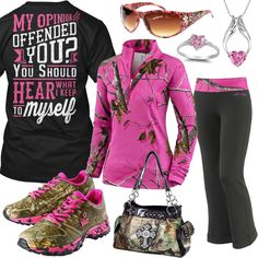 Hear What I Keep To Myself Camo Trim Pants Outfit - Real Country Ladies