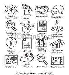 Vector - Business management icons in line style. Pack 18. - stock illustration, royalty free illustrations, stock clip art icon, stock clipart icons, logo, line art, EPS picture, pictures, graphic, graphics, drawing, drawings, vector image, artwork, EPS vector art