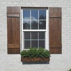 "Custom width Shutters less than 16.5"" Board and batten shutter cedar farmhouse shutters wood shutters exterior shutters stained shutters"