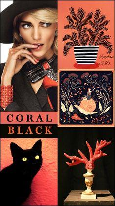 '' Black & Coral '' by Reyhan S.D.