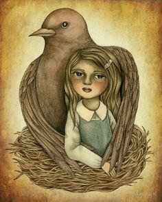 """Silent Nurturing"" by Amalia K   RedBubble"