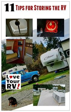 11 tips for storing the RV from the Love Your RV! blog - http://www.loveyourrv.com/ #RV #storage