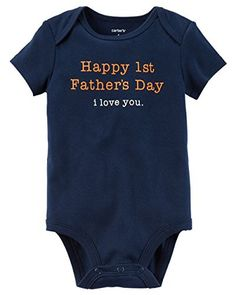 Carter's Baby Boys' First Father's Day Bodysuit (18 Months, Navy)