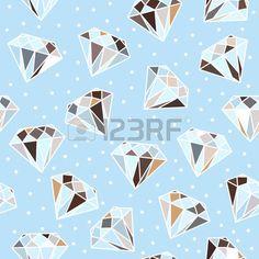 Light blue seamless pattern with diamonds.  photo
